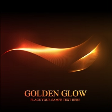 abstract background modern glowing golden 3d wave decor