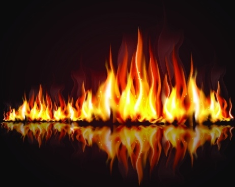 Flames decorative background vector