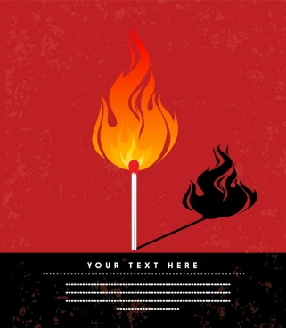 flaming match background red design shadow decor