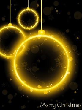 flashing christmas hanging ball vector
