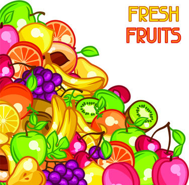 flat fruit pattern vector background