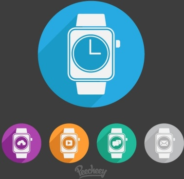 flat illustration smart watch