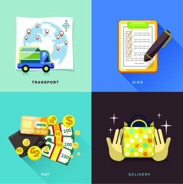 flat infographics icons creative vector