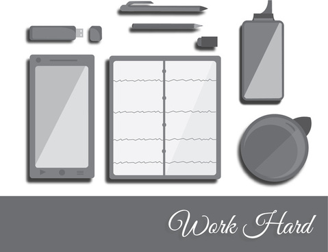flat office simple work
