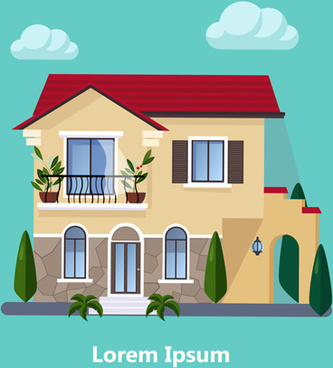 Flat Roof House Free Vector Download 8 585 Free Vector For Commercial Use Format Ai Eps Cdr Svg Vector Illustration Graphic Art Design