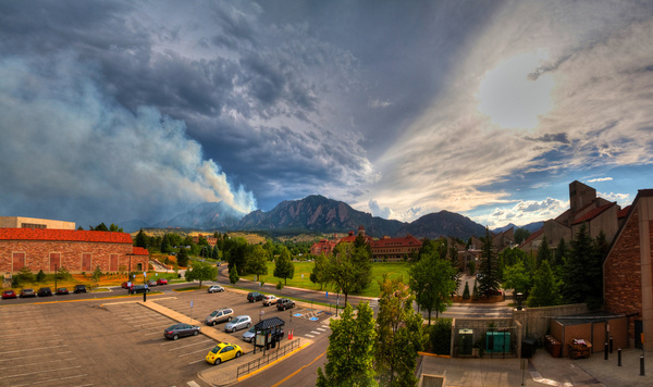 flatirons on fire