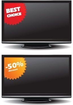 flatpanel tv sales vector