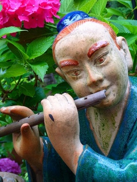 flautist asian musician