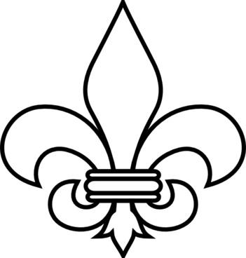 Fleur De Lis Outline clip art