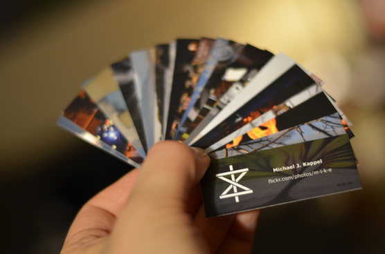 flickr business cards