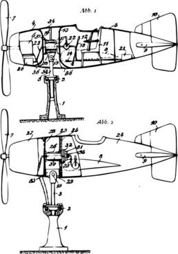 Flight Simulator Plane Plan clip art