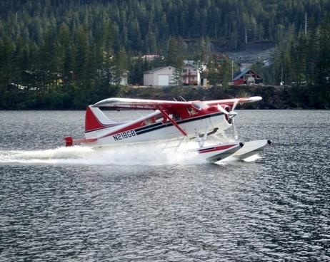 float plane seaplane flying