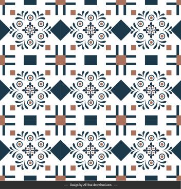floor tile pattern repeating symmetrical shapes flat design