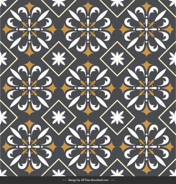 floor tile pattern template dark classical repeating symmetry