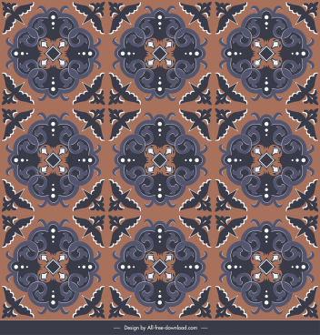 floor tile pattern template repeating retro symmetric decor