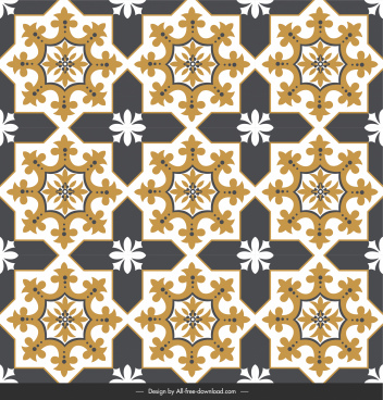 floor tile pattern template symmetric shapes elegant classic