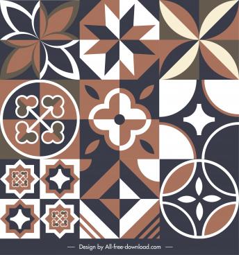 flooring tile pattern elements dark retro flat symmetry