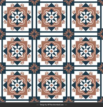 flooring tile pattern templates repeating symmetric shapes