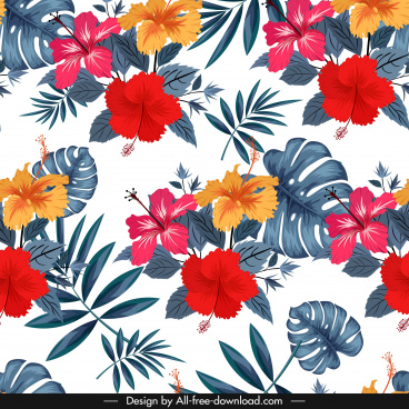 flora background colorful classical decor