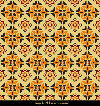 flora pattern template classical repeating symmetric decor