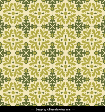 flora pattern template classical symmetric repeating petals decor