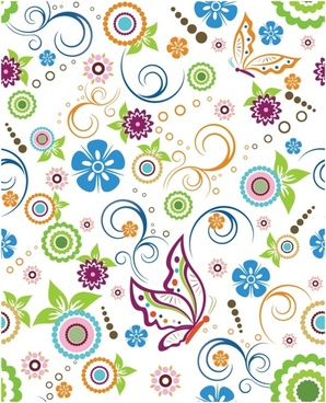 Floral and butterfly Pattern