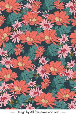 floral background elegant colorful classical design