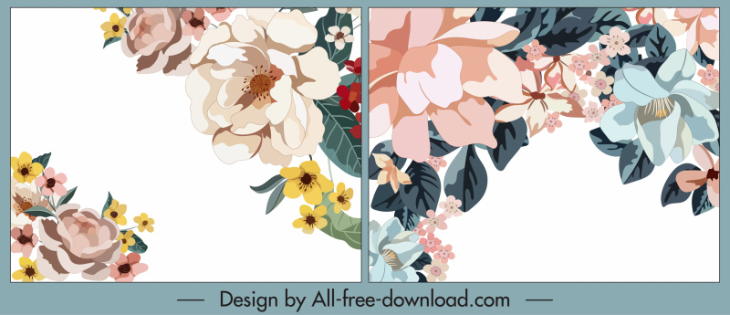 floral background templates bright colorful classic decor