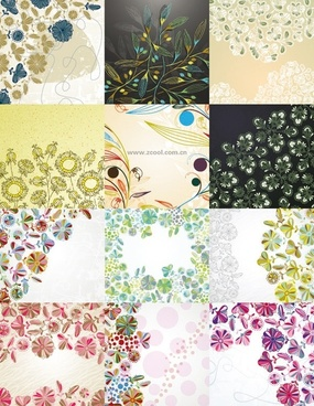 floral background vector cute