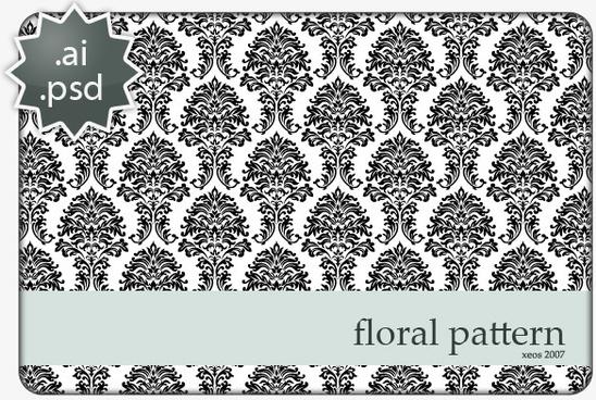 floral black backgrounds design vector