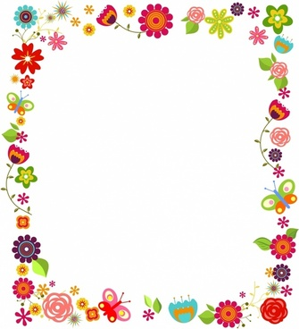 Floral borde