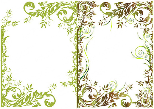 Floral border fashion vector