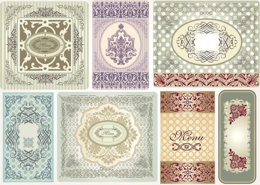 decorative pattern templates retro european symmetric decor