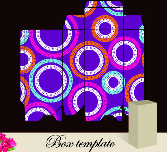 floral box template vector