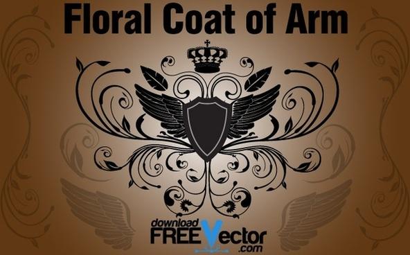 Floral Coat of Arm