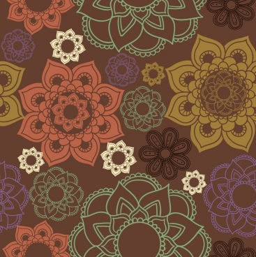 floral decor background classical flat design