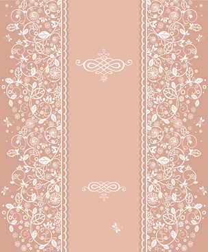 floral decor patterns background vector