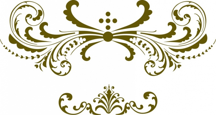 floral decoration icons classical curves style