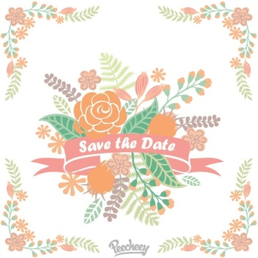 floral decoration save the date