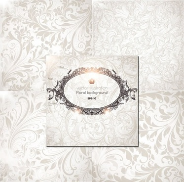card cover template luxury elegant european royal decor