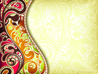 floral decorative pattern background