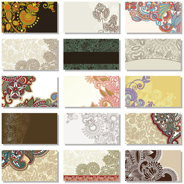 floral decorative pattern cards vector background