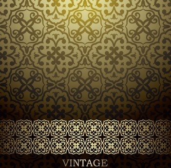 floral decorative pattern vintage background vector