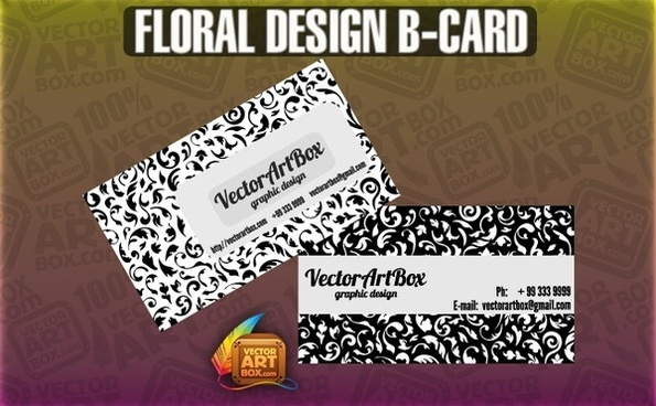 Floral Design B-card