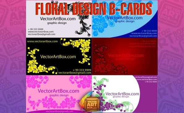 Floral Design B-cards