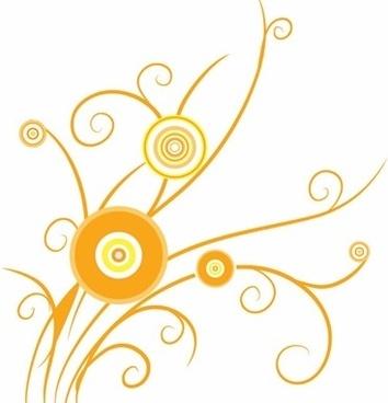 Floral Design Swirl Pattern Vector