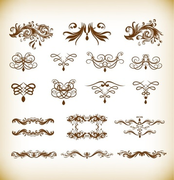 floral design vector illustration set
