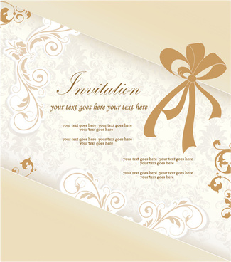 Engagement invitation card free vector download 12965 free vector floral elegant invitation cards vector set stopboris Choice Image