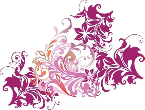 Floral Element Vector Art