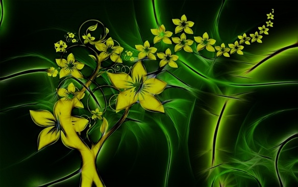 floral entwine fractals